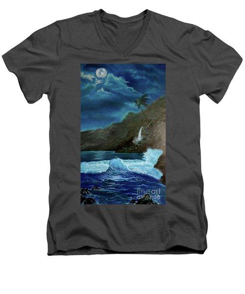 Moonlit Wave Men's V-Neck T-Shirt
