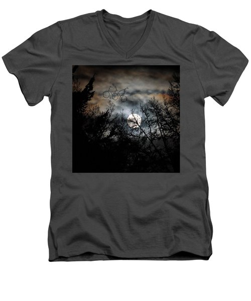 Moonlite Ride Men's V-Neck T-Shirt