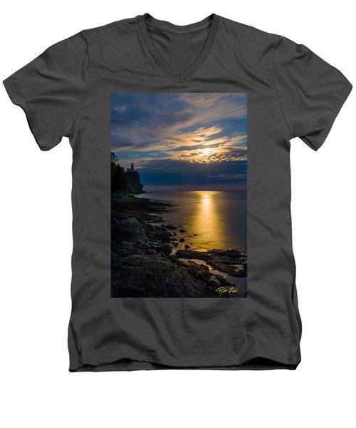 Moonrise From The Cloudbank Men's V-Neck T-Shirt