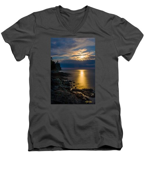 Moonrise From The Cloudbank Men's V-Neck T-Shirt