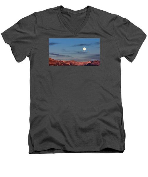 Moonrise With Afterglow Men's V-Neck T-Shirt