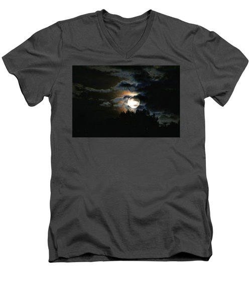 Moonset In The Clouds 2 Men's V-Neck T-Shirt