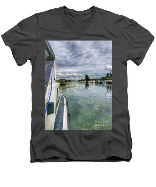 Moored At The Marina Men's V-Neck T-Shirt