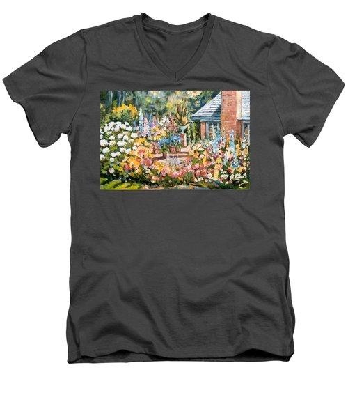 Moore's Garden Men's V-Neck T-Shirt by Alexandra Maria Ethlyn Cheshire