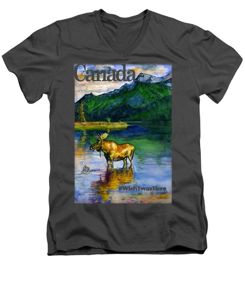 Moose In Canada Shirt Men's V-Neck T-Shirt