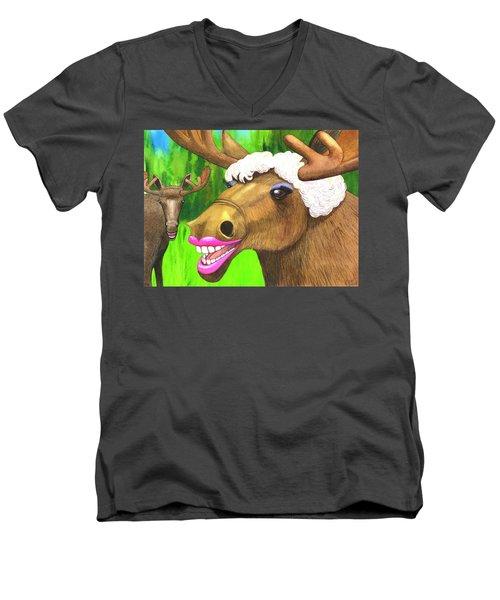 Moose Lips Men's V-Neck T-Shirt