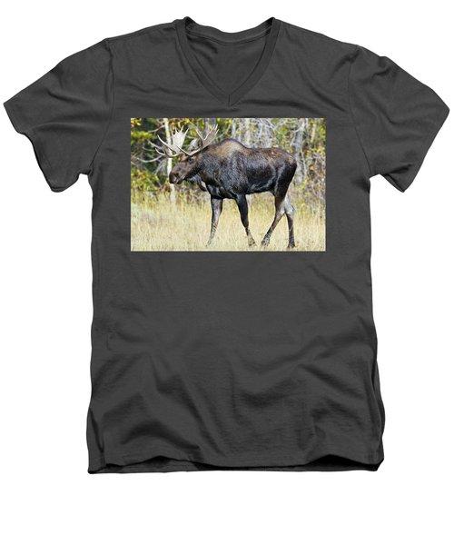 Moose On The Move Men's V-Neck T-Shirt