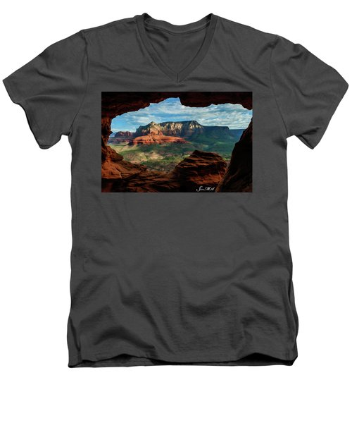 Moose Ridge 06-056 Men's V-Neck T-Shirt by Scott McAllister