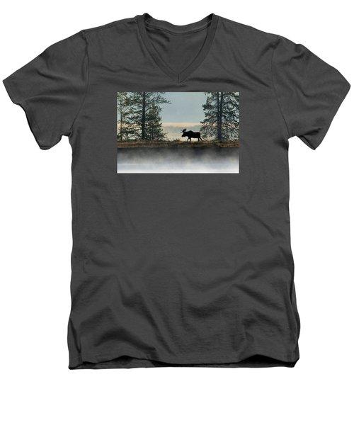 Moose Surprise Men's V-Neck T-Shirt