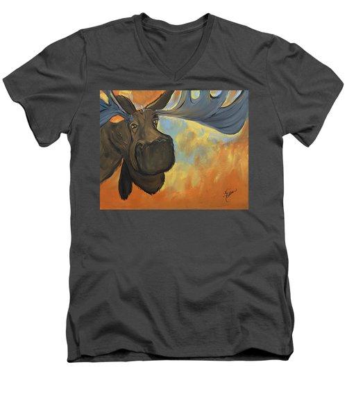 Moosying Along Men's V-Neck T-Shirt