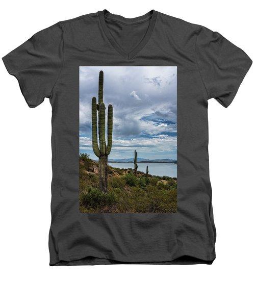 Men's V-Neck T-Shirt featuring the photograph More Beauty Of The Southwest  by Saija Lehtonen