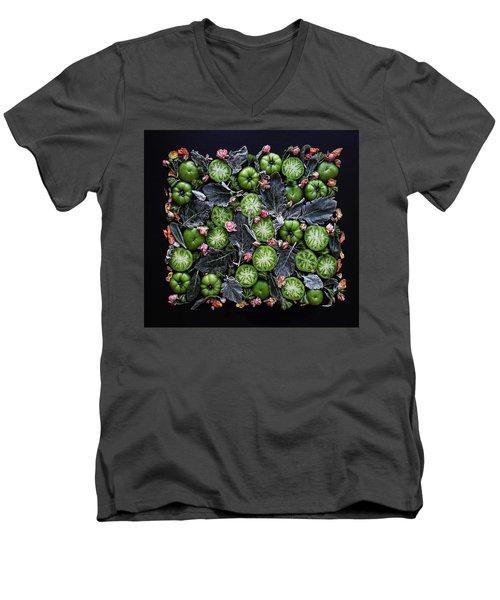 More Green Tomato Art Men's V-Neck T-Shirt