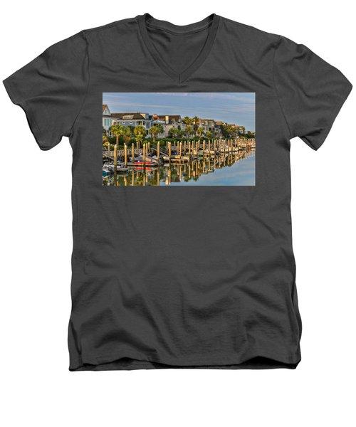 Morgan Place Homes In Wild Dunes Resort Men's V-Neck T-Shirt