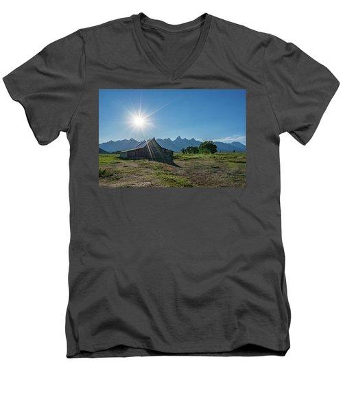 Mormon Row Men's V-Neck T-Shirt by Alpha Wanderlust