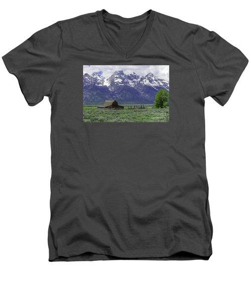 Grand Tetons Men's V-Neck T-Shirt