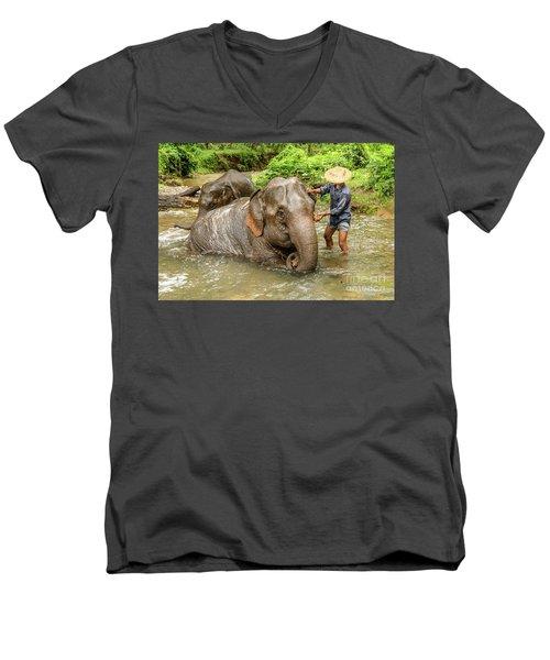Morning Ablutions 4 Men's V-Neck T-Shirt by Werner Padarin