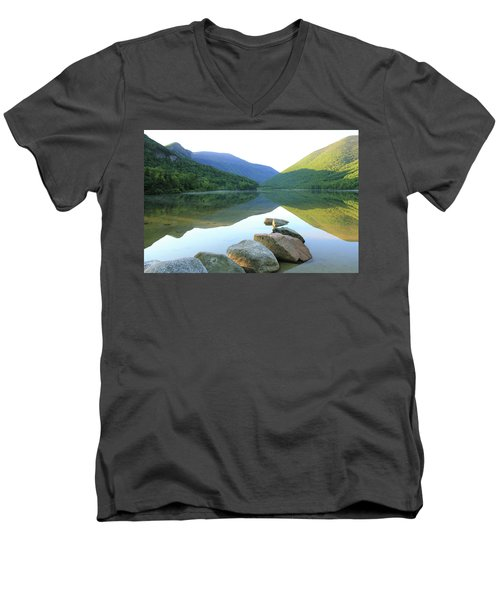 Men's V-Neck T-Shirt featuring the photograph Morning At Echo Lake by Roupen  Baker
