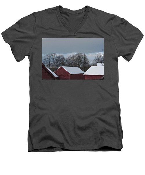 Morning Barnscape Men's V-Neck T-Shirt