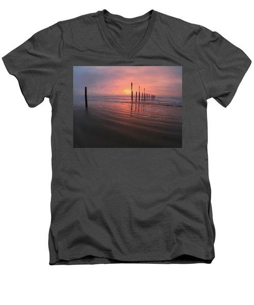 Morning Bliss Men's V-Neck T-Shirt by Sharon Jones