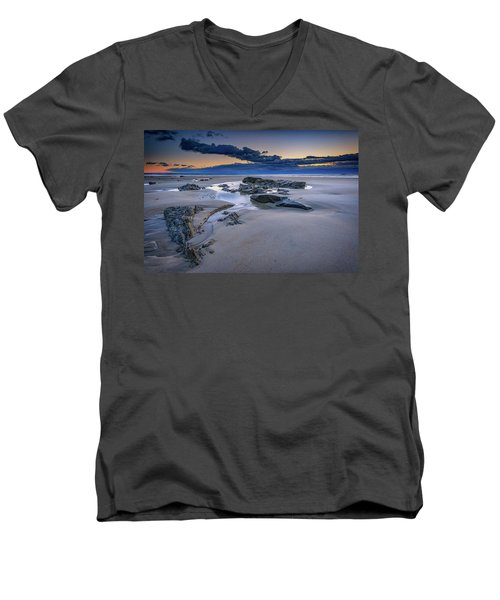 Men's V-Neck T-Shirt featuring the photograph Morning Calm On Wells Beach by Rick Berk