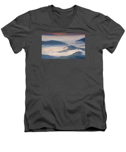 Morning Cloud Colors Men's V-Neck T-Shirt