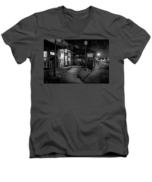 Morning Coffee In Black And White Men's V-Neck T-Shirt