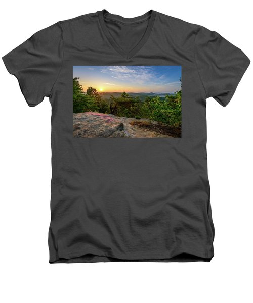 Morning Colors Men's V-Neck T-Shirt