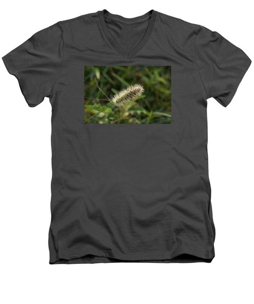 Men's V-Neck T-Shirt featuring the photograph Morning Dew by Heidi Poulin