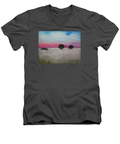 Morning Dew Men's V-Neck T-Shirt by J R Seymour