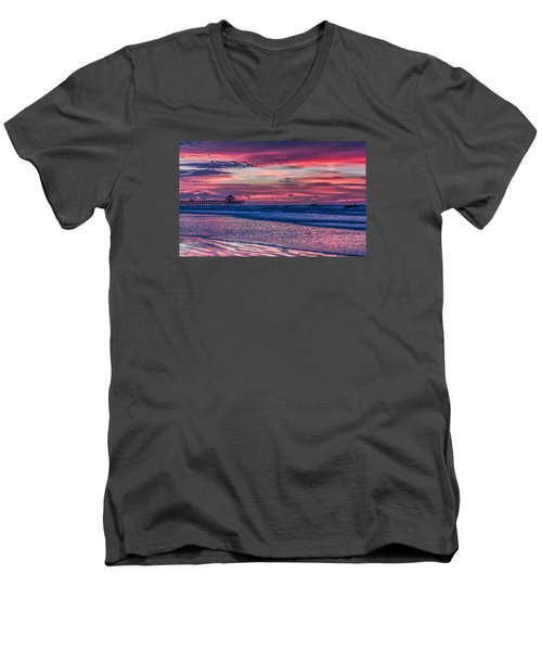 Morning Divide - Folly Beach Sc Men's V-Neck T-Shirt