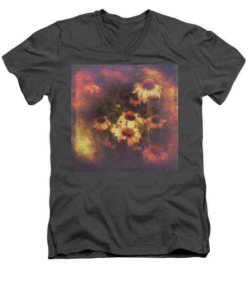 Morning Fire - Fierce Flower Beauty Men's V-Neck T-Shirt