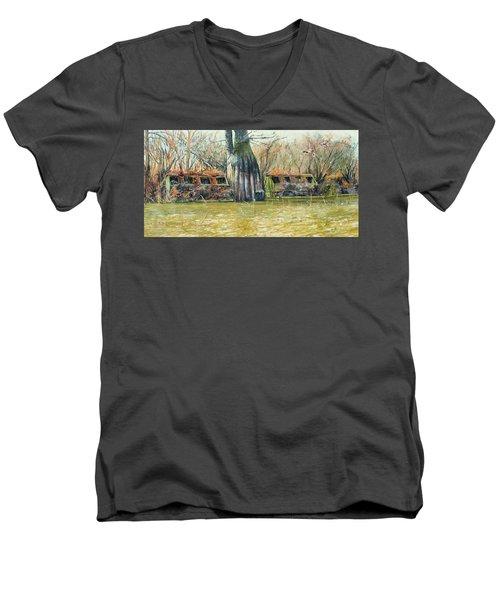 Morning Flight At Little Basin Men's V-Neck T-Shirt
