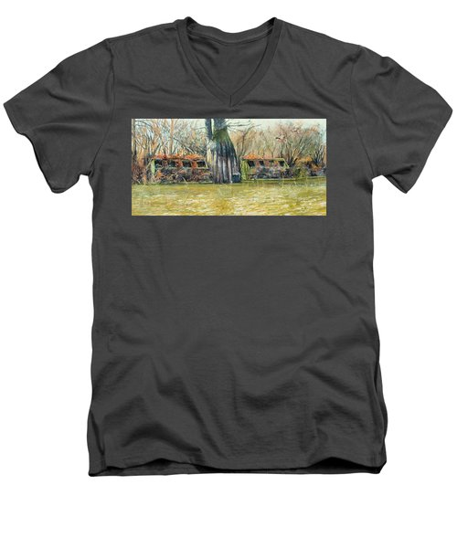 Morning Flight At Little Basin Men's V-Neck T-Shirt