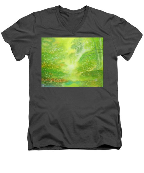 Morning Flora Men's V-Neck T-Shirt