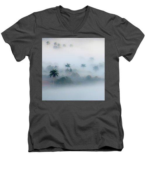 Morning Fog, Vinales Valley Men's V-Neck T-Shirt