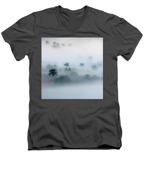 Morning Fog, Vinales Valley Men's V-Neck T-Shirt