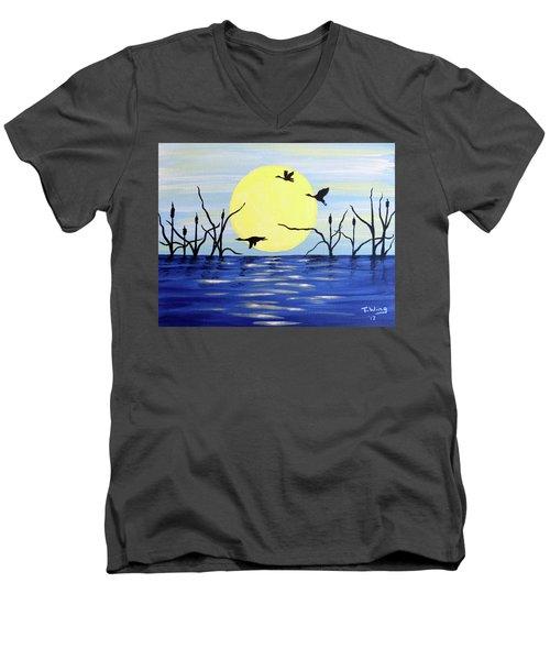 Morning Geese Men's V-Neck T-Shirt