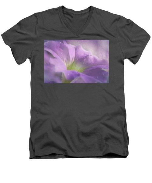 Morning Glory Men's V-Neck T-Shirt by Ann Lauwers