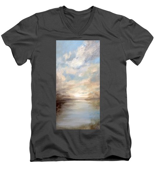 Morning Glory Men's V-Neck T-Shirt by Dina Dargo