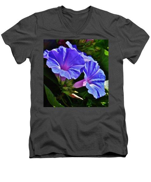 Morning Glory Flower Men's V-Neck T-Shirt