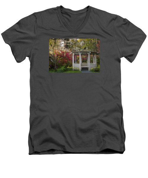 Morning Glow At The Plantations Men's V-Neck T-Shirt