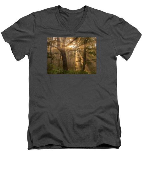 Morning God Rays Men's V-Neck T-Shirt