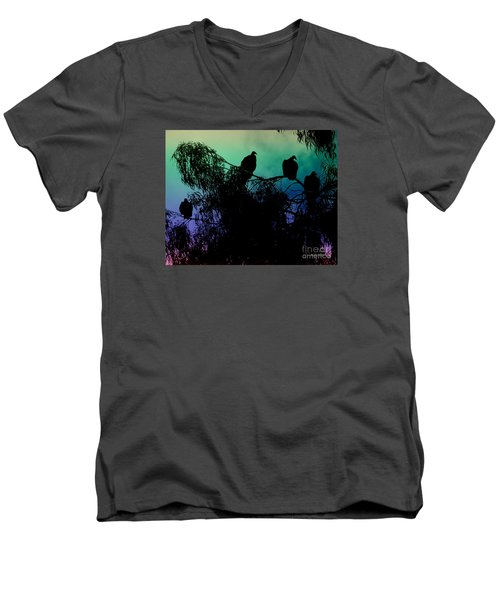 Men's V-Neck T-Shirt featuring the photograph Morning Has Broken by Rhonda Strickland
