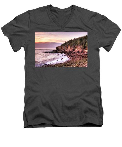 Morning In Acadia Men's V-Neck T-Shirt