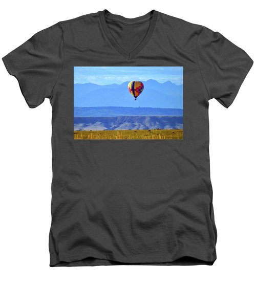 Morning In Montana Men's V-Neck T-Shirt by C Sitton