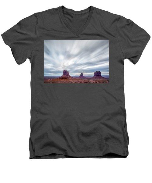 Morning In Monument Valley Men's V-Neck T-Shirt