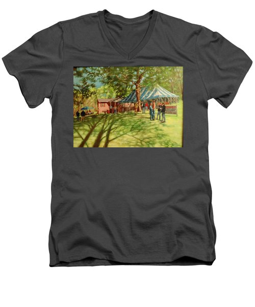 Morning In Ringgold Men's V-Neck T-Shirt