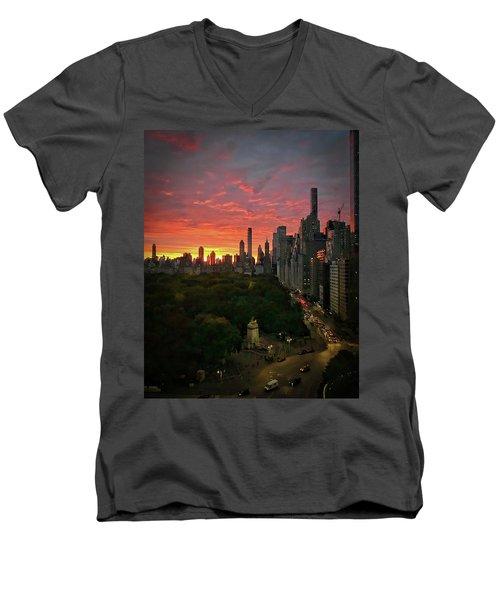 Morning In The City Men's V-Neck T-Shirt