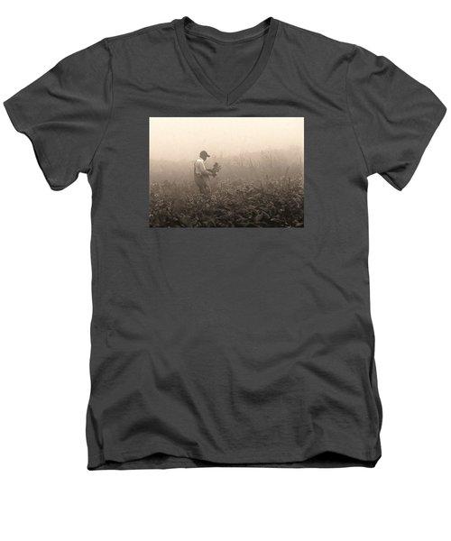 Morning In The Fields Men's V-Neck T-Shirt by Stephen Flint