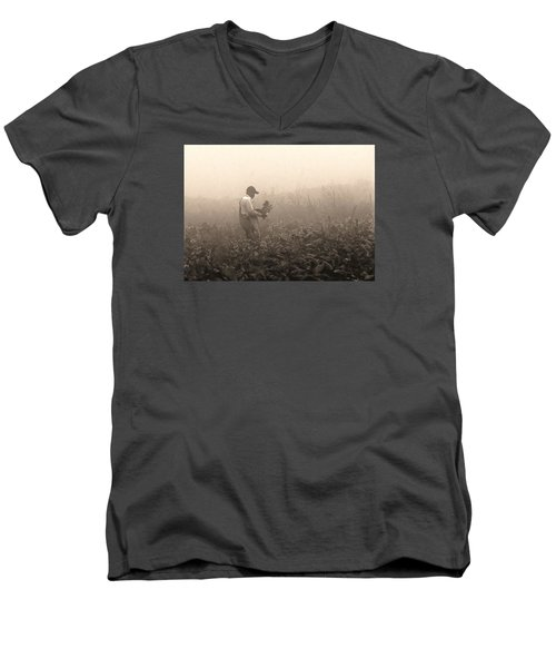 Morning In The Fields Men's V-Neck T-Shirt